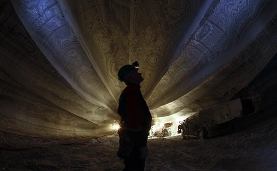 Рабочий на руднике «Уралкалия»