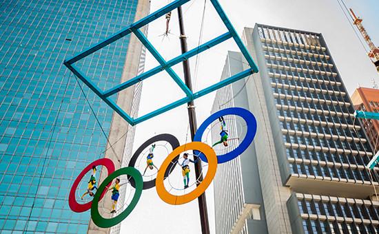 Этап эстафеты олимпийского огня Игр-2016