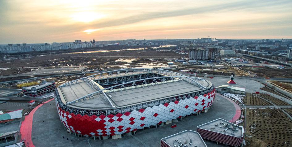 Стадион ФК «Спартак» натерритории аэродрома Тушино