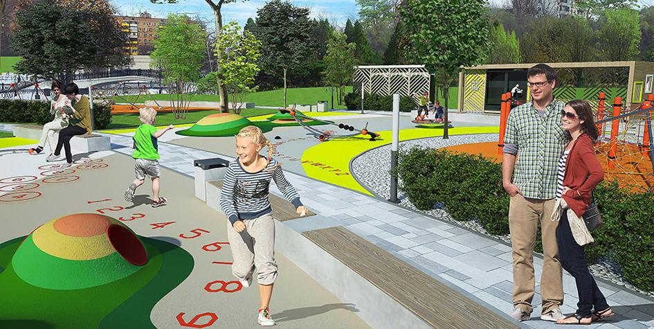 Проектный вид парка в Свиблове