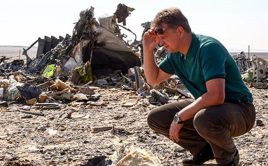 Место крушения российского самолета Airbus 321 в Египте
