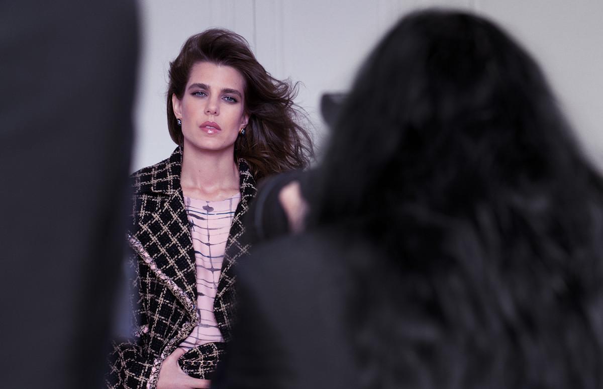 Шарлотта Казираги на съемках рекламной кампании Chanel