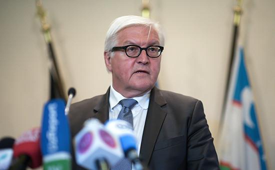 Министр иностранных дел Германии Франк-Вальтер Штайнмайер. Архивный кадр
