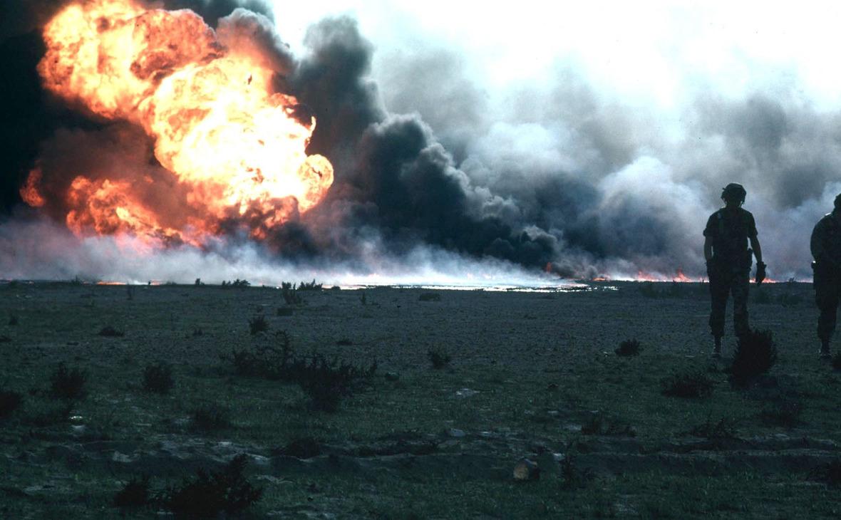 Горящие нефтяные месторождения Кувейта
