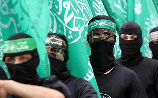Боевики палестинского движения ХАМАС в городе Газа