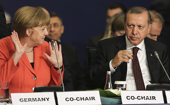 Канцлер Германии Ангела Мекель и президент ТурцииРеджепЭрдоган