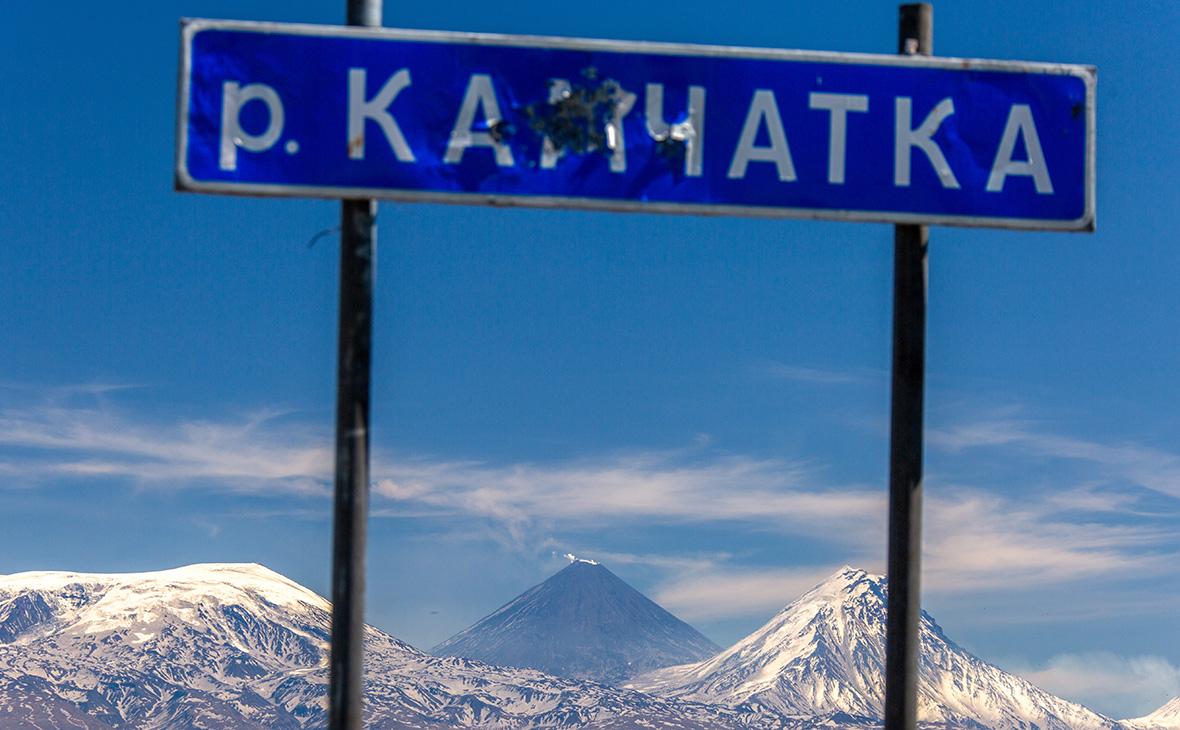 Вид на Ключевской вулкан(в центре)
