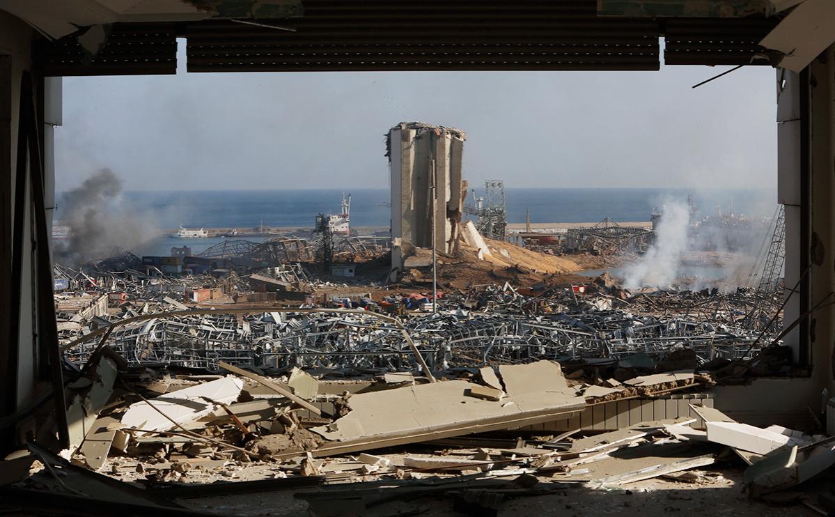 Последствия взрыва в порту Бейрута, Ливан, 5 августа 2020 года