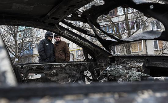 Последствия артобстрела в Мариуполе