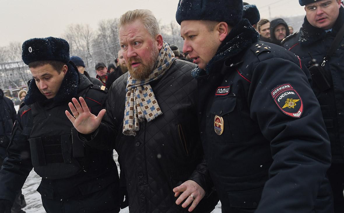 Юрий Горский во время задержания.3 декабря 2016 года