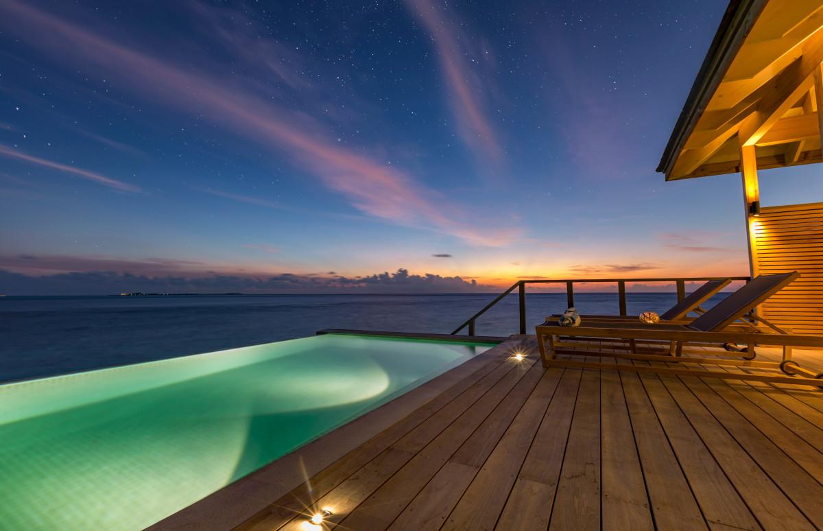 Вилла Ocean Pool Villa на курортеKudadoo Private Island by Hurawalhi