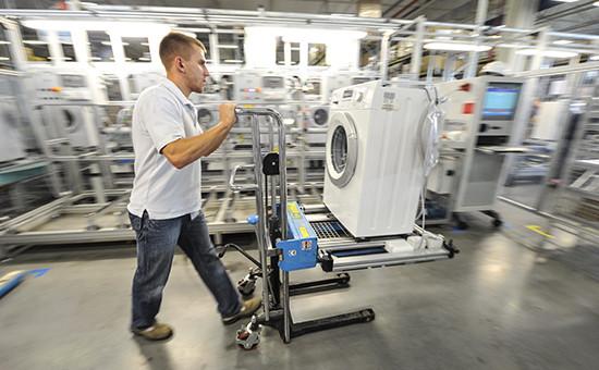 Производство стиральных машин назаводе Bosch-Siemens подПетербургом