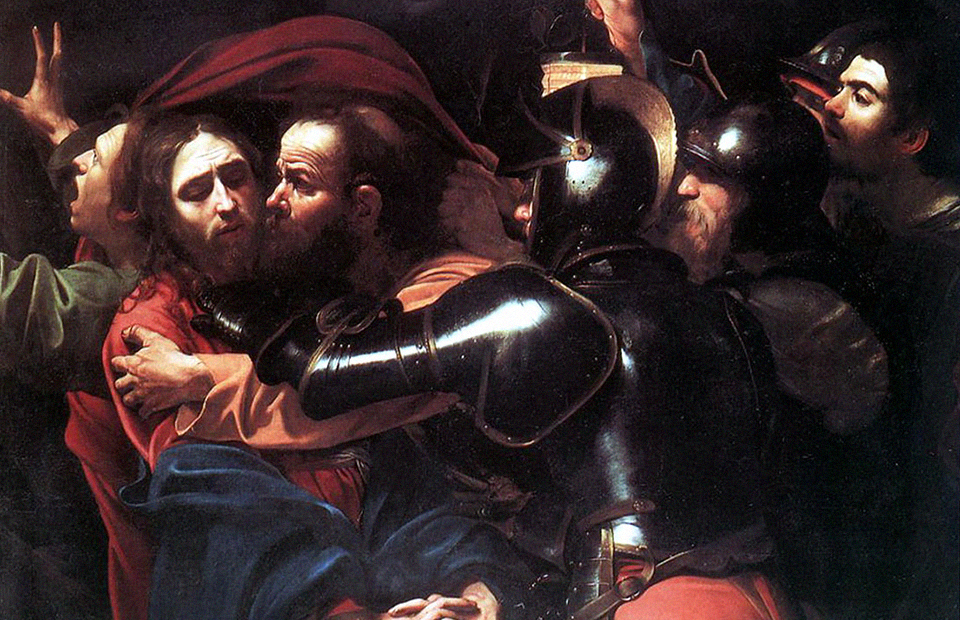 Караваджо. «Поцелуй Иуды», 1602