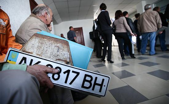 Выдача российских автомобильных номеров вКрыму. Апрель 2014 года