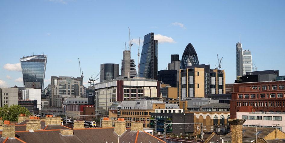 Вид на лондонский район Сити