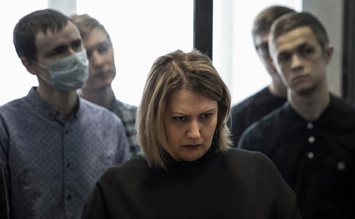 Фигуранты дела «Сети» и адвокат Оксана Маркеева