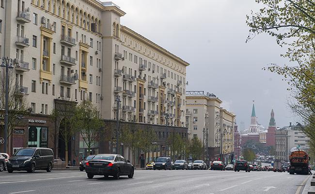 Современный вид на дом №6 в начале Тверской улицы