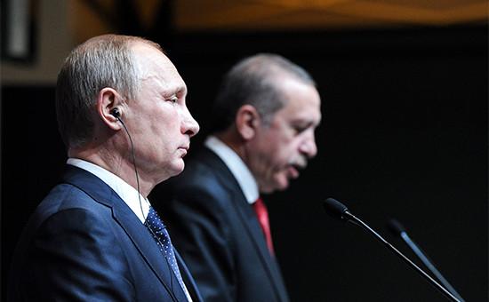 Президент России Владимир Путин ипрезидент Турции Реджеп Тайип Эрдоган,1 декабря 2014 года