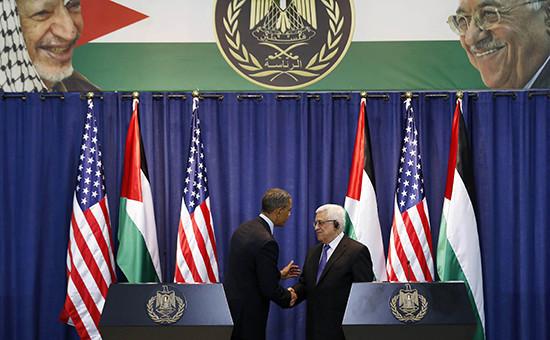 Бывший президент США Барак Обама ипрезидент Палестины Махмуд Аббас