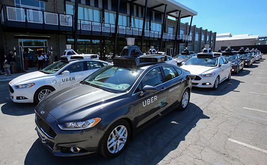 Демонстрация такси Uber с беспилотным управлением в Питтсбурге