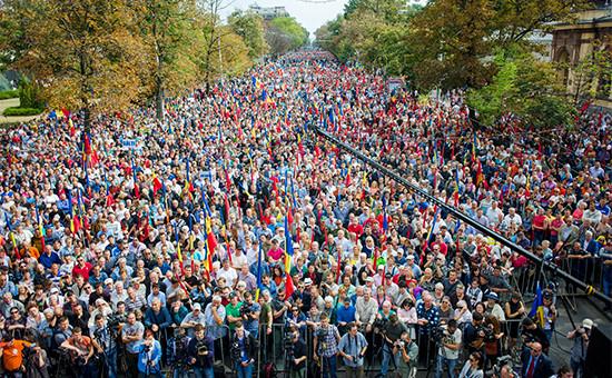 Акция протеста оппозиции вКишиневе  Архивное фото