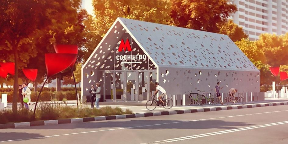 Проект дизайна вестибюля станции метро«Солнцево»