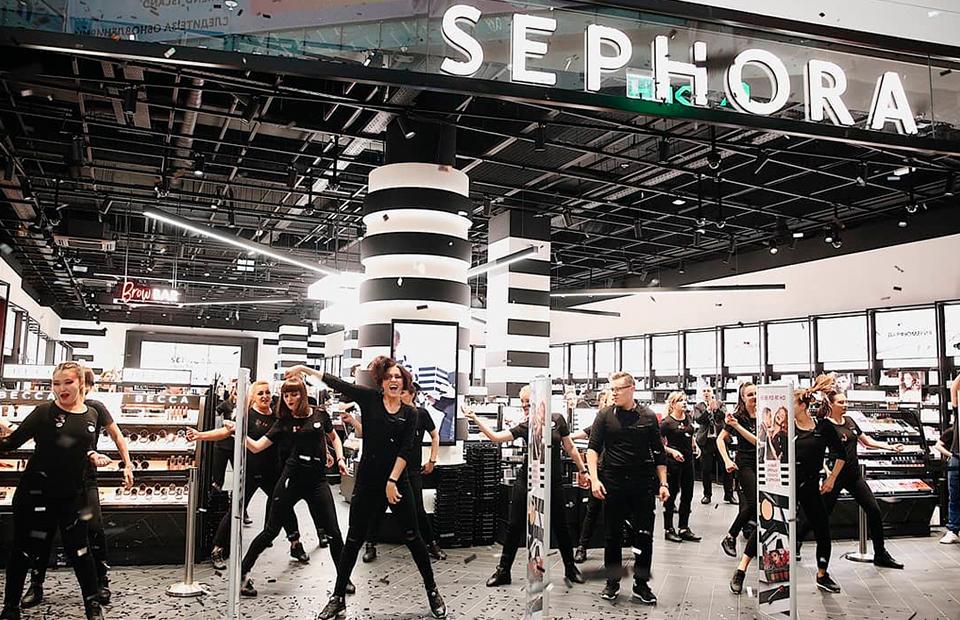 Открытие Sephora в ТЦ АВИАПАРК