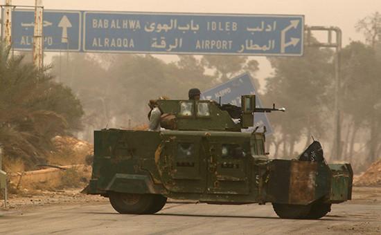Броневик повстанцев на западе Алеппо, 28 октября 2016 года