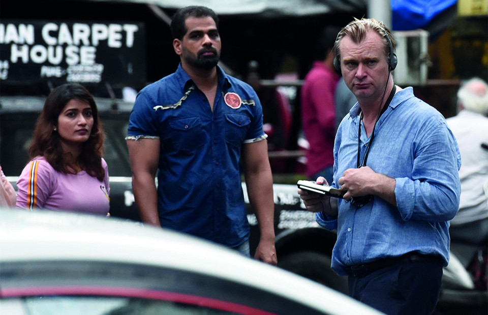 Кристофер Нолан на съемках фильма «Довод»