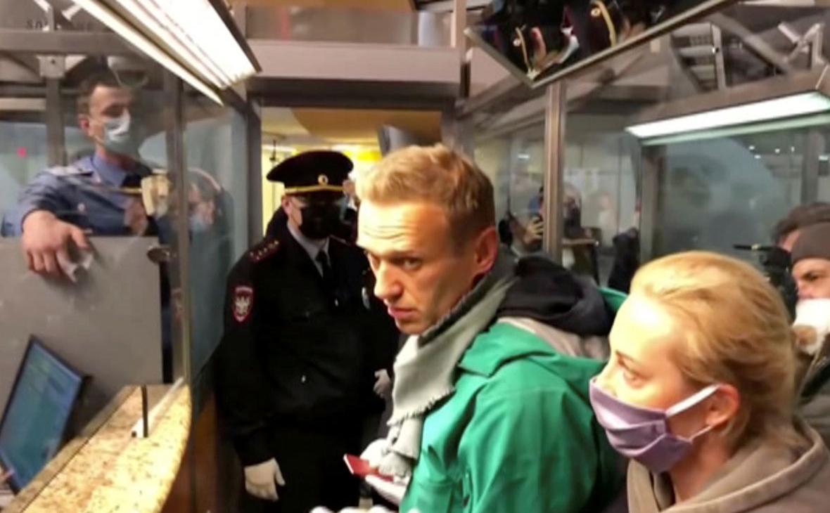 Алексей Навальный в аэропорту Шереметьево