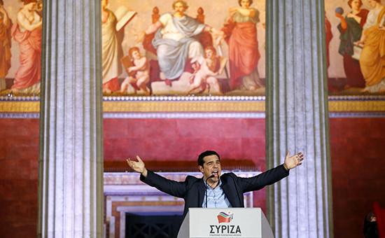 Глава леворадикальной греческой партии СИРИЗА Алексис Ципрас