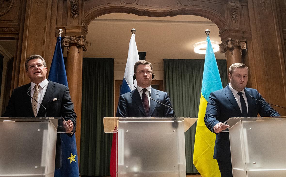 Марош Шефчович, Александр Новак и Алексей Оржель