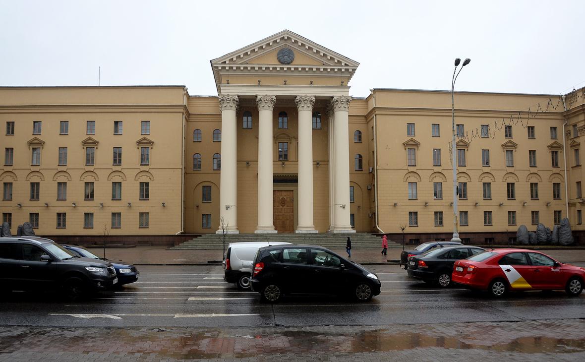 Вид на здание Комитета государственной безопасности Белоруссии
