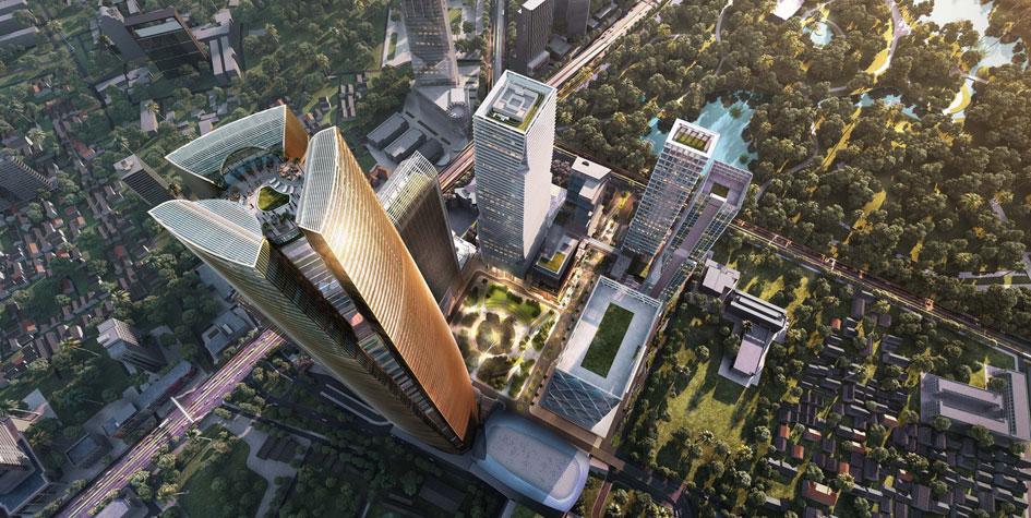 Проект многофункционального центра вБангкоке