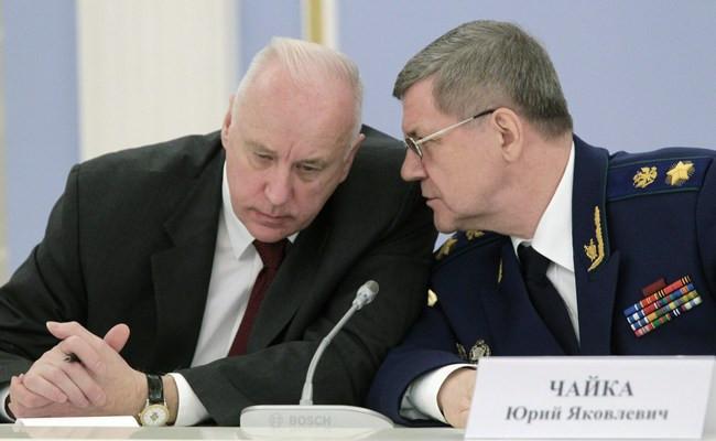 Александр Бастрыкин иЮрий Чайка