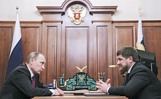 Президент России ВладимирПутин и глава Чечни Рамзан Кадыров, декабрь 2015 года