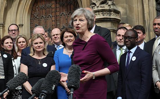 Глава МВД Великобритании Тереза Мэй выступила с заявлением после победы во втором туре голосования на пост лидера Консервативной партии