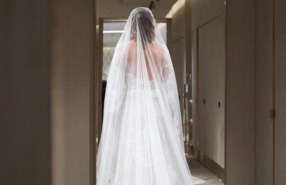 Ксения Собчак в свадебном платьеEdem Couture