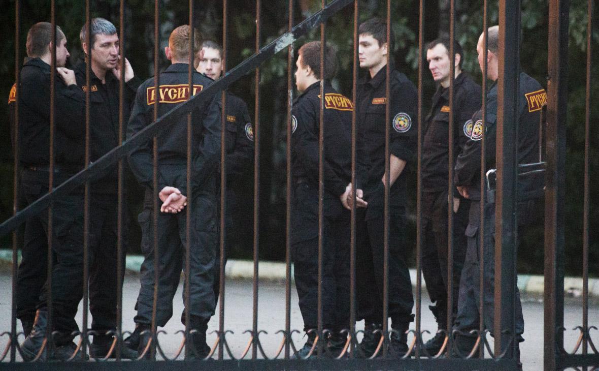 ЧОП «Русич» около санатория «Каширские роднички»