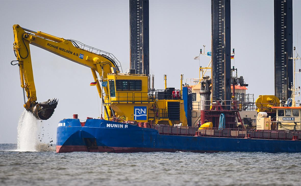 Подготовительные работы для прокладки труб газопровода «Северный поток-2»