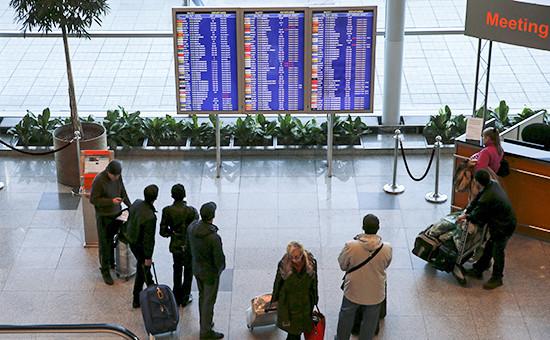 Пассажиры ваэропорту Домодедово