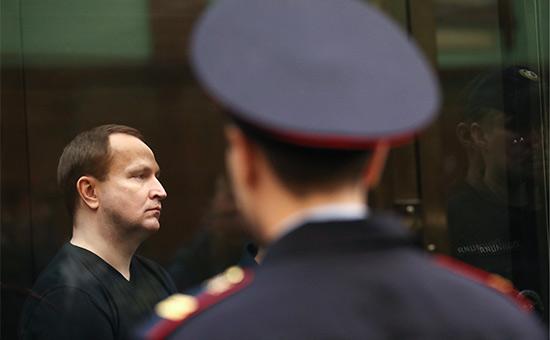 Денис Сугробов во время оглашения приговора в Мосгорсуде