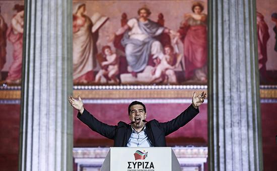 Лидер СИРИЗА Алексис Ципрас