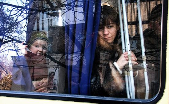 Эвакуация мирных жителей изДонецка