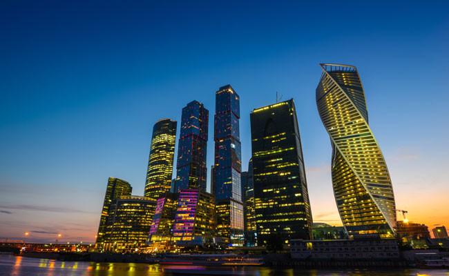Вид наММДЦ «Москва-Сити»