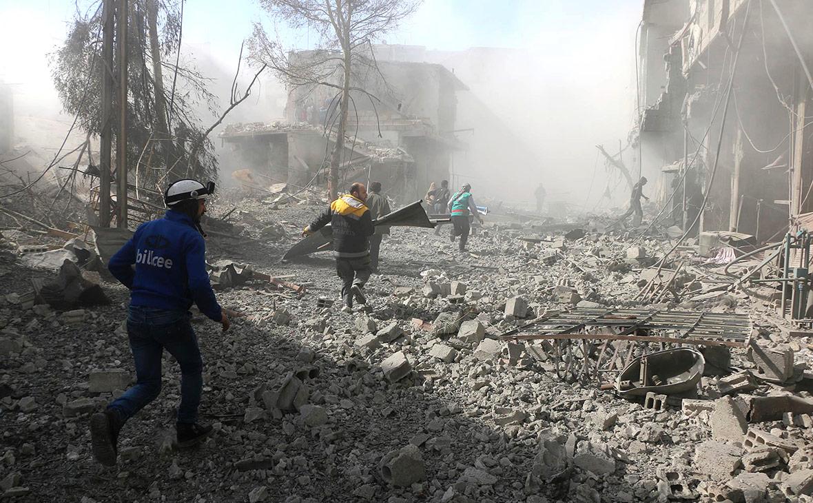 Последствия обстрела в пригороде Дамаска. 20 февраля 2018 года