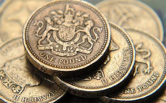 Монеты номиналом один фунт стерлингов
