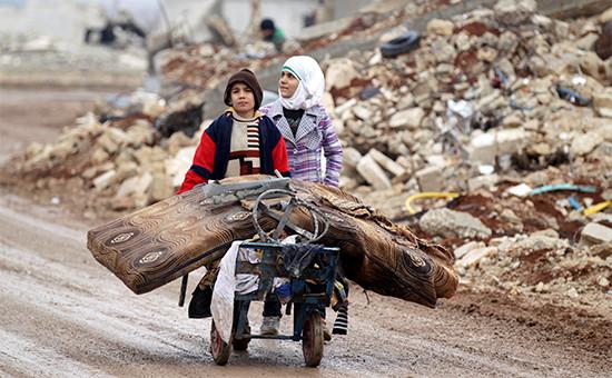 Жители Алеппо. 2 января 2017 года