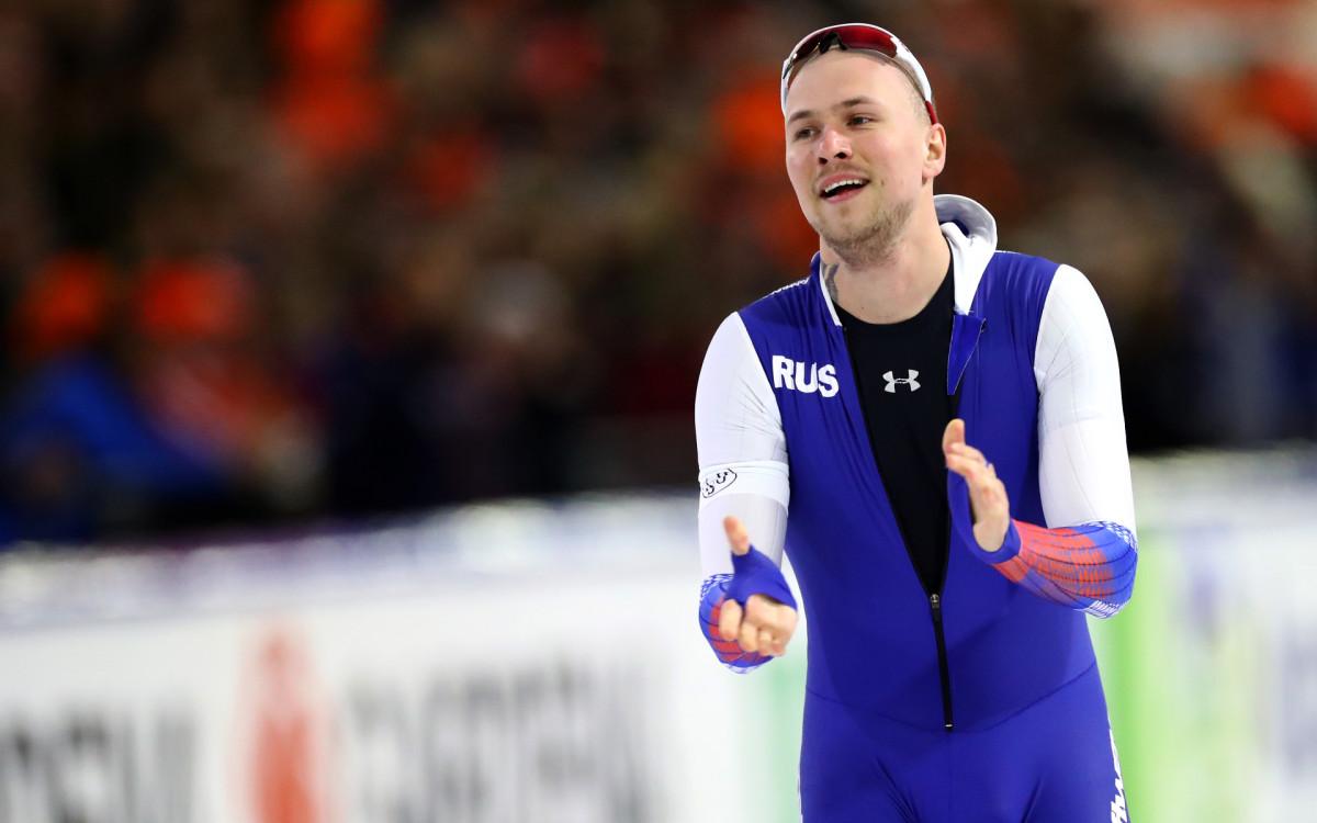 Один из лидеров сборной России по конькобежному спорту Павел Кулижников