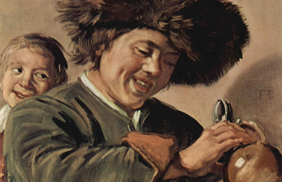 «Два смеющихся мальчика с кружкой пива», Франс Хальс